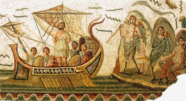 Mosaïque_d'Ulysse_et_les_sirènes aus arabischen Wikipedia